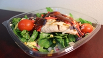 <h5>Chicken Salad with BBQ Sauce Vinaigrette.</h5>