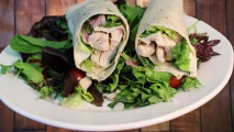 <h5>Italian Style Grilled White Chicken Wrap</h5>