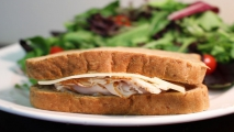 <h5>Turkey and Swiss Sandwich on Wheat</h5>