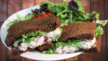 <h5>Cranberry Chicken Salad on Dark Wheat</h5>