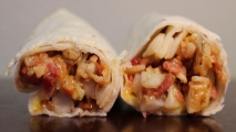 <h5>Egg Potato Bacon and Cheese Burrito</h5>
