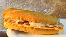 <h5>Turkey and Ham Combo French Sub</h5>
