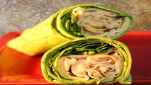 <h5>White Turkey Spinach Wrap</h5>