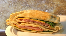 <h5>Ham and Cheddar Pita</h5>